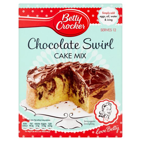 Betty Crocker Chocolate Swirl Cake