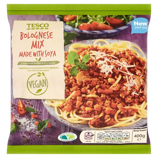 Tesco Meat Free Bolognese Mix 400g My Vegan Supermarket