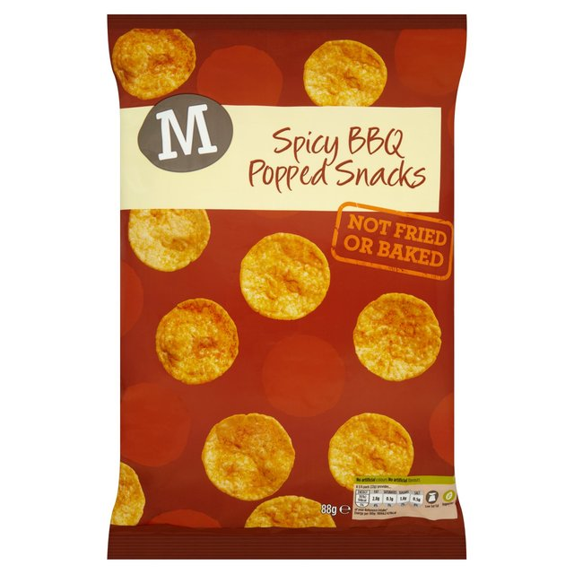 Morrisons Spicy Bbq Popped Chips 88g My Vegan Supermarket
