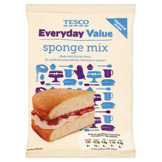 Sponge Cake Cake Mix Tesco