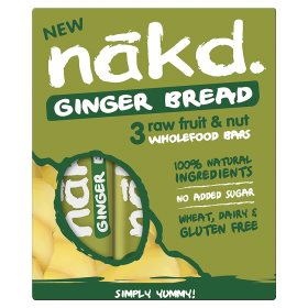 Nakd ginger bread raw fruit nut wholefood bars my for Raw food bars uk